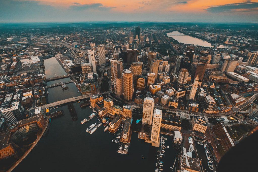 boston cannabis aerial view